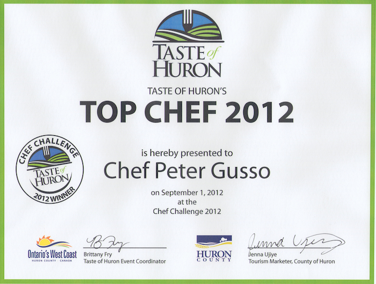 Top Chef Certificate